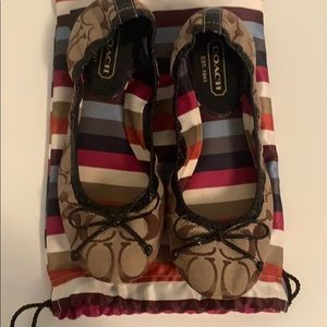 Used Coach Ballet Flats Size 7.5